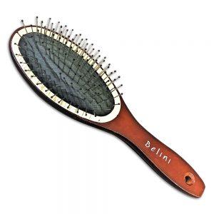 Metal Brown Hair Brush Belini